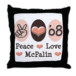 Peace Love McPalin Throw Pillow