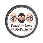 Peace Love McPalin Wall Clock