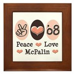 Peace Love McPalin Framed Tile