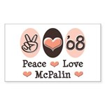 Peace Love McPalin Rectangle Sticker 10 pk)