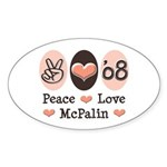 Peace Love McPalin Oval Sticker