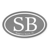 Seagrove Beach SB Euro Oval Oval Decal