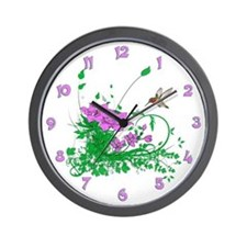 Hummingbird Garden Wall Clock