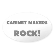 Cabinet Makers ROCK Oval Decal