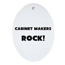 Cabinet Makers ROCK Oval Ornament