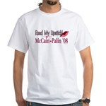 McCain Palin Read My Lipstick White T-Shirt