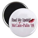 McCain Palin Read My Lipstick Magnet