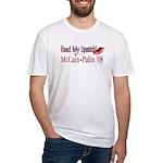 McCain Palin Read My Lipstick Fitted T-Shirt