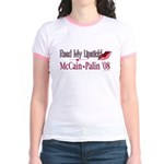 McCain Palin Read My Lipstick Jr. Ringer T-Shirt