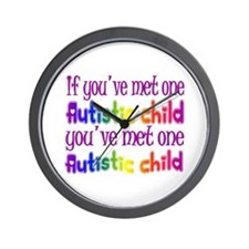 One Autistic Child Wall Clock