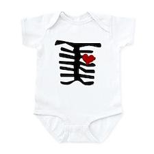 Skeleton with Heart Infant Bodysuit
