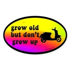 Don't Grow Up Oval Decal