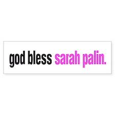 god bless sarah palin Bumper Bumper Sticker