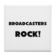 Broadcasters ROCK Tile Coaster