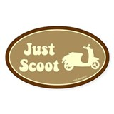 Just Scoot Oval Decal