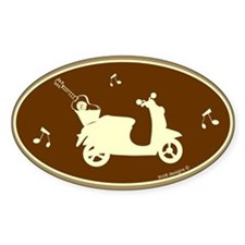 Guitar Scooter Oval Decal