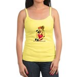 fitness fun - blond woman Jr. Spaghetti Tank