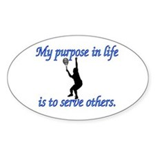 Purpose in Life is to Serve Oval Stickers