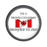 Proud Canadian Wall Clock