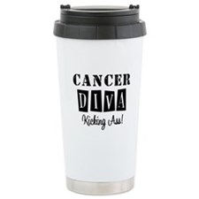 Cancer Diva (Black) Ceramic Travel Mug