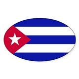 Cuban Flag Oval Sticker (50 pk)