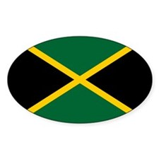 Jamaican Flag Oval Sticker (10 pk)