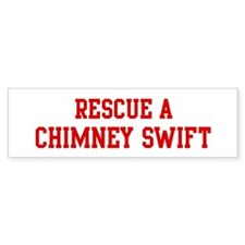 Rescue Chimney Swift Bumper Bumper Sticker