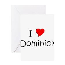 Cute I love dominick Greeting Card