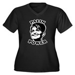 Palin Power Women's Plus Size V-Neck Dark T-Shirt