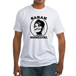 Sarah Palin is my homegirl Fitted T-Shirt