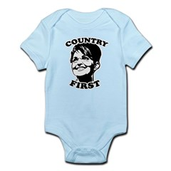 SARAH PALIN: Country First Infant Bodysuit