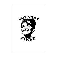 SARAH PALIN: Country First Mini Poster Print