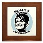 Beauty Queen for President Framed Tile