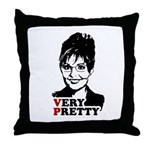 SARAH FOR VP = Very Pretty Throw Pillow
