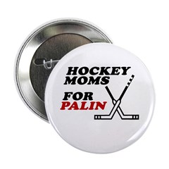 "Hockey Moms for Palin 2.25"" Button (10 pack)"
