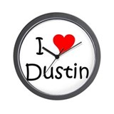 Cute I love dustin Wall Clock