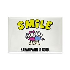 SMILE, SARAH PALIN IS GOOD Rectangle Magnet