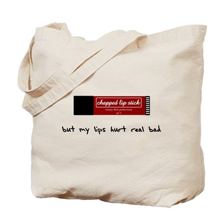 my lips hurt - tote