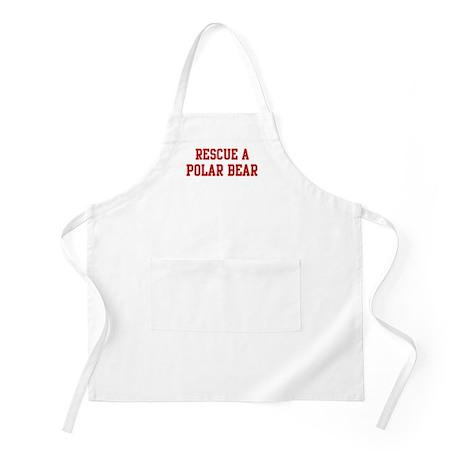 Rescue Polar Bear BBQ Apron