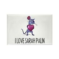 I LOVE SARAH PALIN Rectangle Magnet