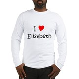 Cute I heart elisabeth Long Sleeve T-Shirt