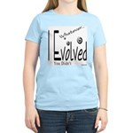 I Evolved Women's Pink T-Shirt