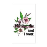 Chlamydia Flower Rectangle Decal
