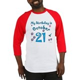 October 21st Birthday Baseball Jersey