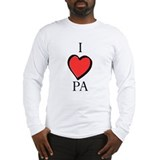 I Heart Love PA Long Sleeve T-Shirt