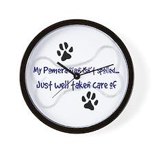 My Pomeranian Isn't Spoiled.. Wall Clock