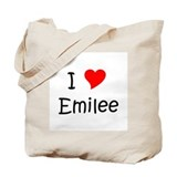 Unique Heart emilee Tote Bag