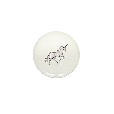 Walking Unicorn Mini Button