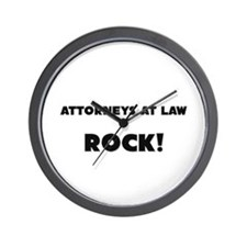 Attorneys At Law ROCK Wall Clock