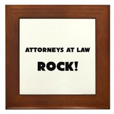 Attorneys At Law ROCK Framed Tile